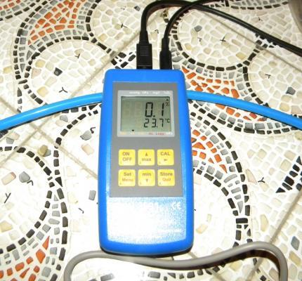 Rilevatore di ossigeno per la misurazione all'interno della bolla
